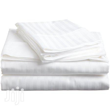 White Cotton Satin Fitted Bed Sheets