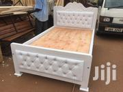 Medium Size White Bed | Furniture for sale in Central Region, Kampala