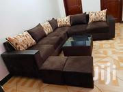 L Sofa, Glass Centre Table and 2 Poufs | Furniture for sale in Central Region, Kampala