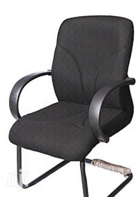 Cantilever Chair With Armrest Black