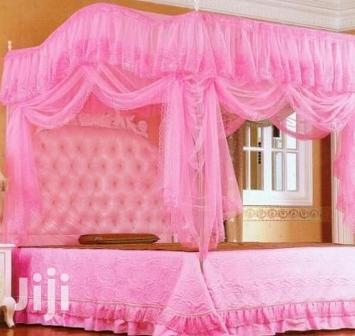 6*6 Top Curved Mosquito Net - Pink.