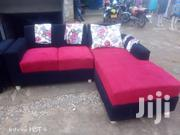Ready L Shape 5 Seater in Red Boack With Floral Pillows | Furniture for sale in Central Region, Kampala