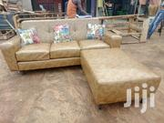 Pure Leather Mini Sofa Available | Furniture for sale in Central Region, Kampala