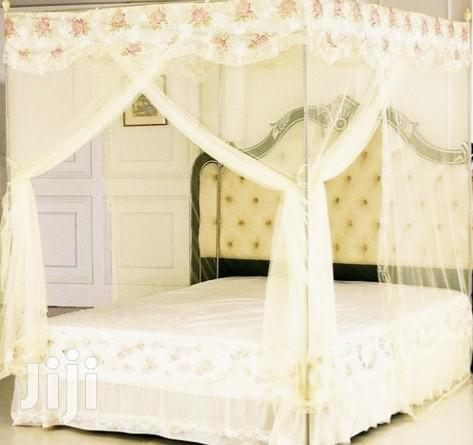 5x6 Mosquito Net With Stands - Cream