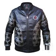 New Casual and Very Stylish Star Designed Men's Leather Jacket - Black | Clothing for sale in Central Region, Kampala