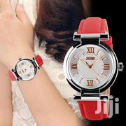 Ladies' Red Leather Strap Water Resistant Wrist Watch | Watches for sale in Central Region, Kampala