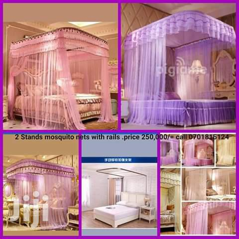 2 Stands Rail Mosquito Nets