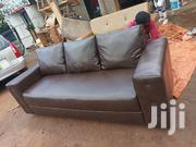 Leather Three Seaters Sofa Available   Furniture for sale in Central Region, Kampala