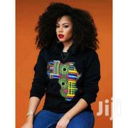 African Map Print Long Sleeve Sweatshirt - Black | Clothing for sale in Central Region, Kampala