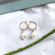 High Fashion Hoop Drop Earrings With a Natural Sea Shell | Jewelry for sale in Central Region, Kampala