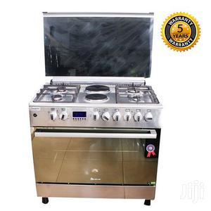 BLUEFLAME 4 Gas 2 Electric Cooker Plus Oven E9042FER- NOX - Silver
