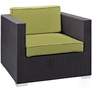 Wicker Single Sectional Sofa Chair - Off Black