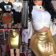 Gold Leather And Black Leather Skirt And T-shirt | Clothing for sale in Central Region, Kampala