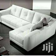 Pintched White  5 Sitter L Sofa | Furniture for sale in Central Region, Kampala