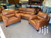 Brown Leather Sofa 5 Seater Luxury Style Original Leather | Furniture for sale in Central Region, Kampala