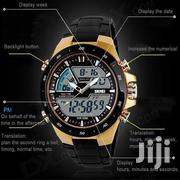 Men'S Gold Dual Time Waterproof Chronograph | Watches for sale in Central Region, Kampala