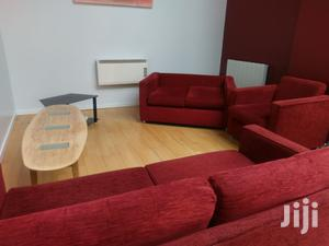 Red Fabric Sofa Imported From the UK,