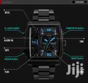 Men'S Fashion Black Square Dual Movement Waterproof Chronograph | Watches for sale in Central Region, Kampala