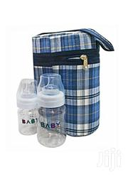Checkered Bottle Warmer With Two Baby Bottles | Baby & Child Care for sale in Central Region, Kampala