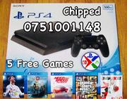 Jailbroken PS4 Slim 500GB New Boxed With 5 Games Installed | Video Game Consoles for sale in Central Region, Kampala