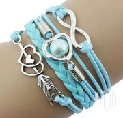 Blue Infinity Heart Layered Original Leather Bracelets. | Jewelry for sale in Central Region, Kampala