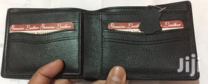 Cow Leather Wallet 3 Fold Black( Imported)
