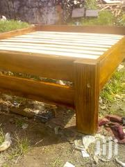 Flat Frame Mahogany Bed   Furniture for sale in Central Region, Kampala