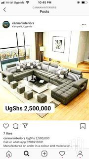 U Sofa, Center Table and 4 Poufs. | Furniture for sale in Central Region, Kampala