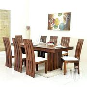 Mahogany 8 Seat Dinning Table With White Cusions   Furniture for sale in Central Region, Kampala