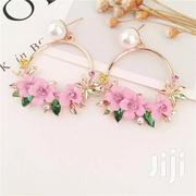 Trendy Cute Pink Flower Fashion Drop Earrings for the Pretty Duchess. | Jewelry for sale in Central Region, Kampala