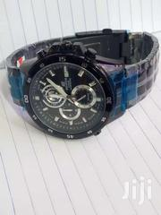 Casio Edifice Chronograph Stainless Steel Men's Watch Black | Watches for sale in Central Region, Kampala