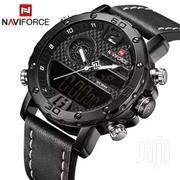 Leather Strapped Digital And Analog Watch | Watches for sale in Central Region, Kampala