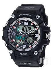 Water Proof Men's Digital and Analog Watch - Black White | Watches for sale in Central Region, Kampala