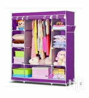 3 Column Cloth Wooden Frame Portable Wardrobe - Purple | Furniture for sale in Central Region, Kampala