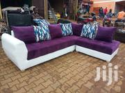 L Shape Puple And White | Furniture for sale in Central Region, Kampala