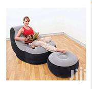 Comfortable Air Chair and Foot Rest Stool Plus a Free Hand Pump   Furniture for sale in Central Region, Kampala