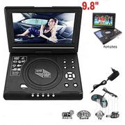 "Portable 9.8"" DVD Player With USB Port, FM Radio, Games 
