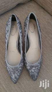 Debenhams Size 7/40 Sequined Silver Shoes | Shoes for sale in Central Region, Kampala
