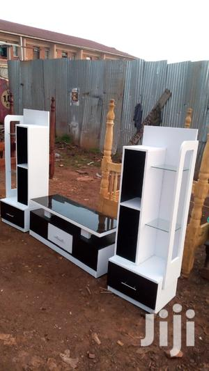 TV Stand Black and White Set
