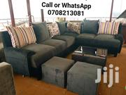 L Sofa , Glass Center Table and 2poufs. | Furniture for sale in Central Region, Kampala