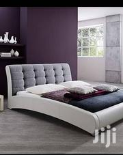 Gray & White Headboard Leather Bed | Furniture for sale in Central Region, Kampala