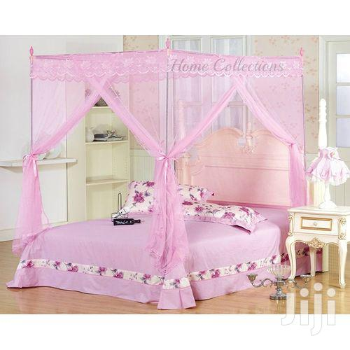 4*6 Mosquito Net Pink With Metalic Stands