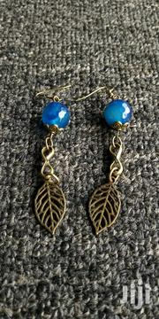 Glass Bead and Bronze Long Earring. Handmade. | Jewelry for sale in Central Region, Kampala