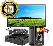 """Hisense 32"""" LED TV + Gotv Decoder With Aerial & Cell Phone 