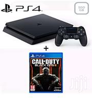 Sony  PS4 Slim 500GB + CALL OF DUTY BLACK OPS 3 - Black | Video Game Consoles for sale in Central Region, Kampala