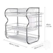 Stainless Steel 3 Tier Dish Rack - Silver | Kitchen & Dining for sale in Central Region, Kampala