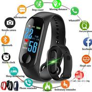 M3 Color Screen Fitness Tracker IP Smart Band Black | Smart Watches & Trackers for sale in Central Region, Kampala