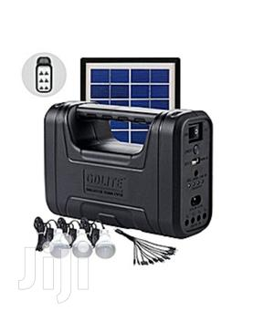 Solar Panel With 4 Lights And Phone Charging