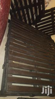 Black Bed Made Out Of Pallets | Furniture for sale in Central Region, Kampala