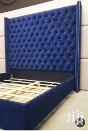 Blue Leather Beds 5by6 | Furniture for sale in Central Region, Kampala